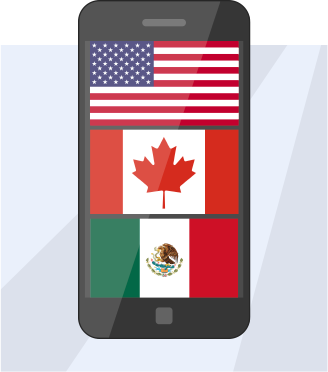 TelAway SIM Cards for Canada, Mexico, USA